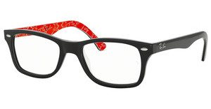 Ray-Ban RX5228 2479 TOP BLACK ON TEXTURE RED