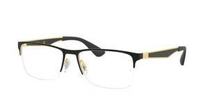 Ray-Ban RX6335 2890 GOLD TOP ON BLACK