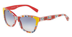 Dolce & Gabbana DG4237 312819 BLUE GRADIENTPRINT MAMBO ON RED