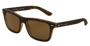 Dolce & Gabbana DG6095 289983 POLAR BROWN GRADIENTTOP YELLOW/HAVANA RUBBER
