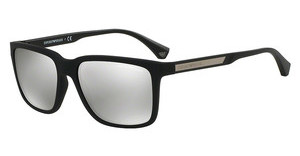 Emporio Armani EA4047 50636G LIGHT GREY MIRROR SILVERBLACK RUBBER