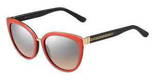 Jimmy Choo DANA/S 11Y/G4 BROWN MS SLVCORAL BLK (BROWN MS SLV)