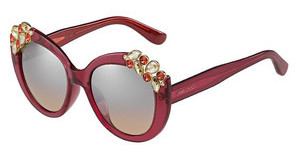 Jimmy Choo MEGAN/S 4LZ/G4 BROWN MS SLVCYCLAMEN (BROWN MS SLV)