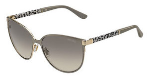 Jimmy Choo POSIE/S J9E/6P BROWN FL GOLDBWGD GLTT