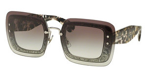 Miu Miu MU 01RS DHE0A7 GREY GRADIENTTRANSPARENT GREY GLITTER