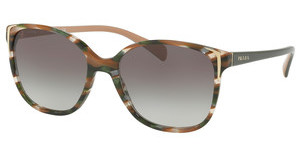 Prada PR 01OS CXY0A7 GREY GRADIENTHAVANA/GREEN BROWN EAR