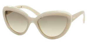Prada PR 08RS TKO3H2 LIGHT BROWN GRAD LIGHT GREENOPAL IVORY/MATTE IVORY