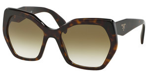 Prada PR 16RS 2AU4M0 BROWN/GREEN GRADIENTHAVANA
