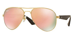 Ray-Ban RB3523 112/2Y LIGHT BROWN MIRROR PINKMATTE GOLD