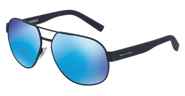 Dolce & Gabbana DG2147 127325 GREEN MIRROR LIGHT BLUEBLUE RUBBER