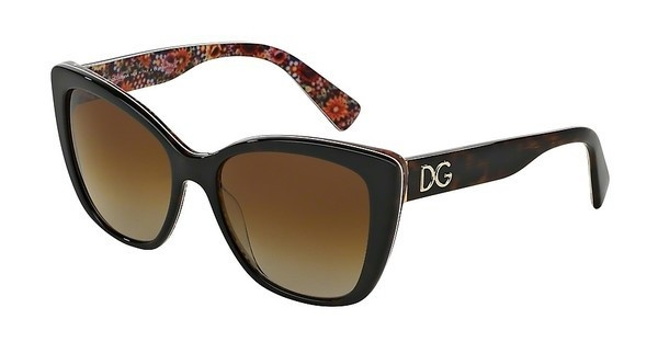 Dolce & Gabbana DG4216 2790T5 POLAR BROWN GRADIENTTOP HAVANA ON MOSAIC