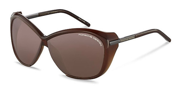 Porsche Design P8603 C dark orange, silver mirroreddark chocolate