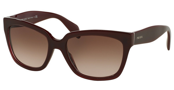 Prada PR 07PS UAN0A6 LIGHT BROWN GRAD DARK BROWNOPAL BORDEAUX ON BORDEAUX