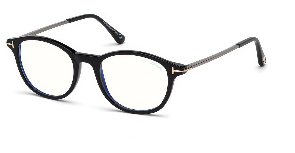 Tom Ford   FT5553-B 001 schwarz glanz