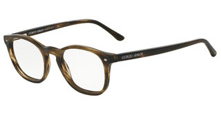 Giorgio Armani AR7074 5405 STRIPED MATTE DARK BROWN