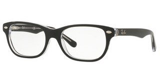 Ray-Ban Junior RY1555 3529 TOP BLACK ON TRANSPARENT