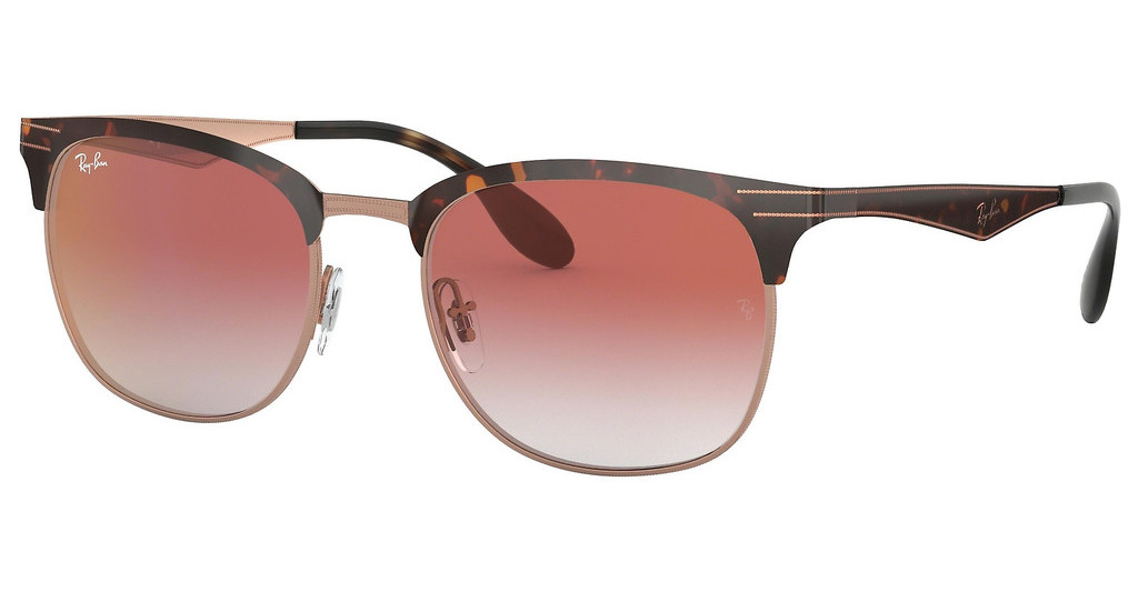 Ray-Ban   RB3538 9074V0 GRADIENT RED MIRROR REDCOPPER ON TOP HAVANA