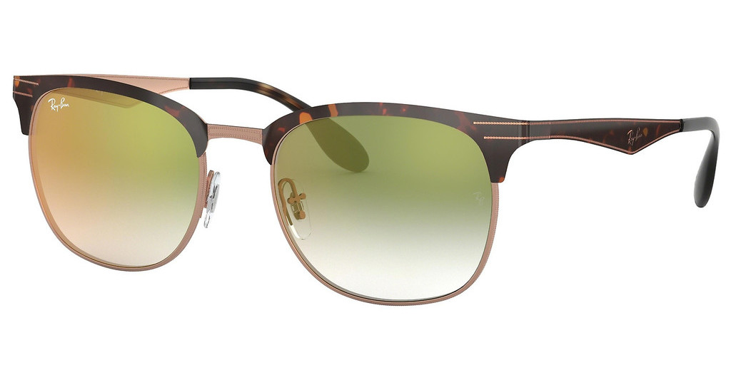 Ray-Ban   RB3538 9074W0 GRADIENT GREEN MIRROR REDCOPPER ON TOP HAVANA