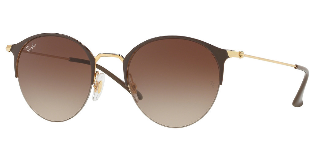 Ray-Ban   RB3578 900913 BROWN GRADIENT DARK BROWNGOLD TOP BROWN
