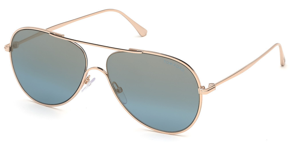 Tom Ford   FT0695 28X blau verspiegeltrosé