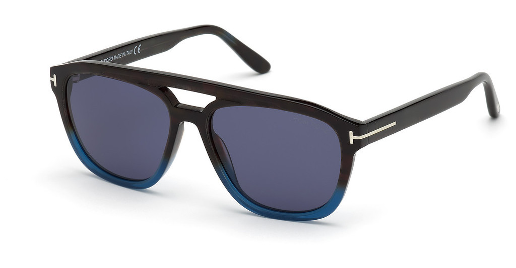 Tom Ford   FT0776 55V blauhavanna bunt