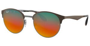 Ray-Ban RB3545 9006A8 BROWN MIRROR RED GRAD SILVERGUNMETAL/MATTE BROWN