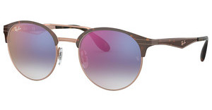 Ray-Ban RB3545 9074X0 GRADIENT BLUE MIRROR REDCOPPER ON TOP HAVANA