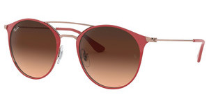 Ray-Ban RB3546 907271 PINK GRADIENT BROWNCOPPER ON TOP RED