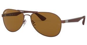 Ray-Ban RB3549 012/83 POLAR BROWNMATTE BROWN