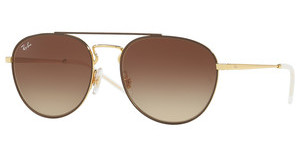Ray-Ban RB3589 905513 GRADIENT BROWNGOLD TOP ON BROWN
