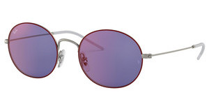 Ray-Ban RB3594 9112D1 DARK VIOLET MIRROR REDSILVER ON TOP BORDEAUX