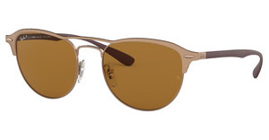 Ray-Ban RB3596 909283 DARK BROWN - POLARLIGHT BROWN ON TOP MATTE