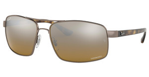 Ray-Ban RB3604CH 121/A2 BROWN MIR GREY GRADIENT POLARSHINY LIGHT BROWN