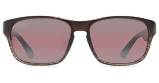 Maui Jim Mixed Plate R721-01 Maui RoseChocolate Stripe Fade