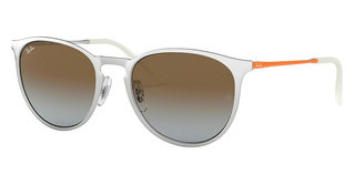 Ray-Ban RB3539 90772W LIGHT BLUE GRADIENT BROWNBRUSCHED SILVER