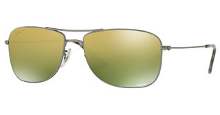 Ray-Ban RB3543 029/6O GREEN MIRROR GOLD POLARMATTE GUNMETAL