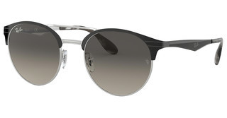 Ray-Ban RB3545 900411 GREY GRADIENTTOP BLACK ON SILVER