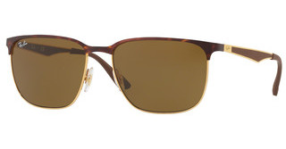 Ray-Ban RB3569 900873 DARK BROWNGOLD TOP SHINY HAVANA