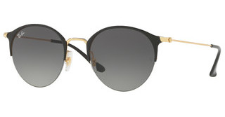 Ray-Ban RB3578 187/11 LIGHT GREY GRADIENT DARK GREYGOLD TOP SHINY BLACK