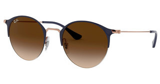 Ray-Ban RB3578 917513 BROWN GRADIENT DARK BROWNCOPPER ON TOP DARK BLUE