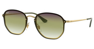 Ray-Ban RB3579N 91400R TRI GRAD GREY/GREEN/TRASPARENTDEMI GLOSS GOLD