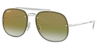 Ray-Ban RB3583N 003/W0 CLEAR GRADIENT GREEN MIRROR RESILVER