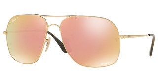 Ray-Ban RB3587CH 001/I0 ORANGE MIR PINK POLARGOLD