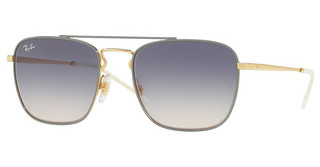 Ray-Ban RB3588 9063I9 LIGHT BROWN GRADIENT BLUEGOLD TOP ON LIGHT GREY