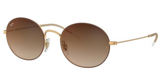 Ray-Ban RB3594 9115S0 BROWN GRADIENT MIRROR REDRUBBER GOLD ON BROWN
