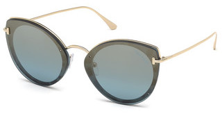 Tom Ford FT0683 55X blau verspiegelthavanna bunt