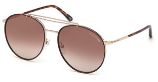 Tom Ford FT0694 28G braun verspiegeltrosé