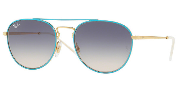 Ray-Ban   RB3589 9057I9 LIGHT BROWN GRADIENT BLUEGOLD TOP ON LIGHT BLUE