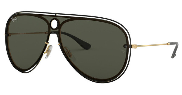 Ray-Ban   RB3605N 187/71 DARK GREENTOP SHINY BLACK ON GOLD